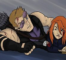 Hawkeye and Black Widow by JupiterLight