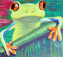 Curious frog by krazykat
