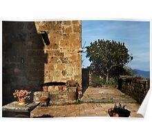 Civita Balcony Courtyard Poster