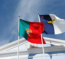 Portugal and Azores flags by Gaspar Avila