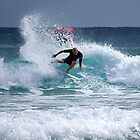 "Mick Fanning""carving the waves"" by Anthony Wilson"