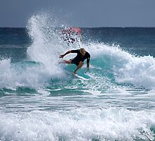 """Mick Fanning""""carving the waves"""" by Anthony Wilson"""