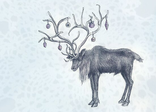Christmas Caribou by brettisagirl