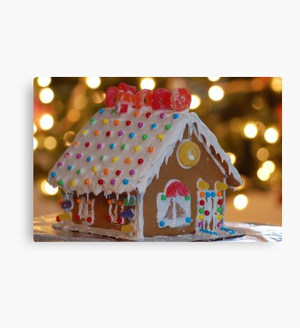 Little Gingerbread House Canvas Print