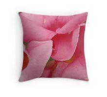 Pink Petal Trio Throw Pillow