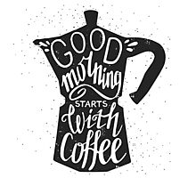 Good morning stars with coffee Photographic Print