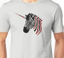 Unicorn from zebra animal Unisex T-Shirt