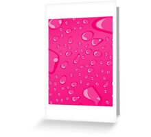 Water Droplets Pink Greeting Card