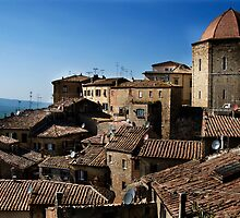 Volterra Rooftops by Erin Kanoa