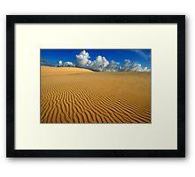 Barren plains Framed Print