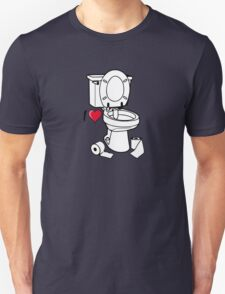 I love I heart toilet wc Unisex T-Shirt