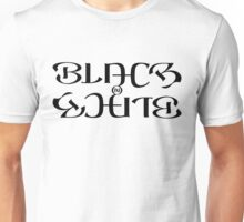 Black on white Unisex T-Shirt