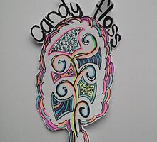 Colored Candy Floss Drawing by AnnestiMeets