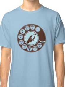Dial numbers with analoque mobile phone Classic T-Shirt
