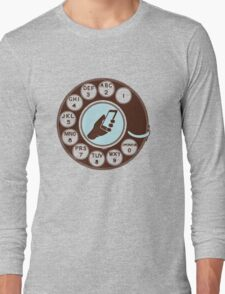 Dial numbers with analoque mobile phone Long Sleeve T-Shirt