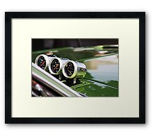 auto meters Framed Print