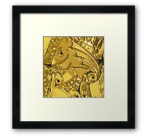 Fish, Fins, Feathers & Fings Framed Print