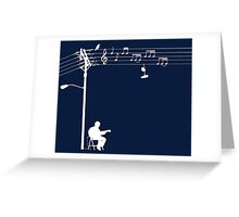 Wired Sound - White Greeting Card