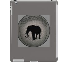 Wild, African Elephant in foot drawing and typography iPad Case/Skin
