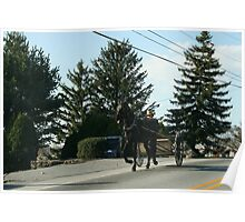 Amish Open Buggy - Lancaster County, PA Poster