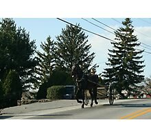Amish Open Buggy - Lancaster County, PA Photographic Print