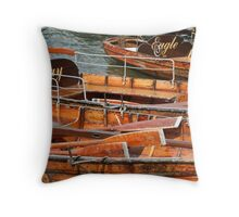 Windermere boats, Cumbria Throw Pillow