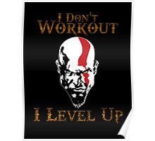 God of War - I Don't Work Out I Level Up - Gym Poster