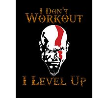 God of War - I Don't Work Out I Level Up - Gym Photographic Print