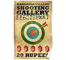 Legend of Zelda Shooting Gallery Poster Poster