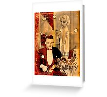 The Public Enemy and Jean Harlow Greeting Card