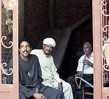 Shisha men - Luxor, Egypt by Anne Kingston