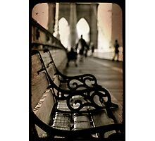 Brooklyn bench deux Photographic Print