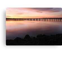 Washington Riverfront At Dawn Canvas Print