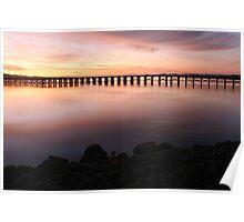 Washington Riverfront At Dawn Poster