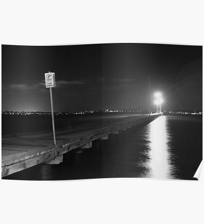 Preston Street Jetty B&W Poster