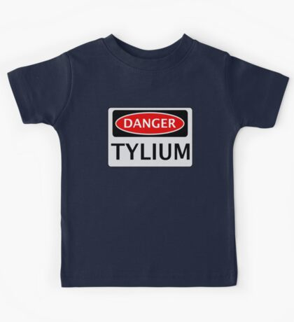 DANGER TYLIUM FAKE ELEMENT FUNNY SAFETY SIGN SIGNAGE Kids Tee