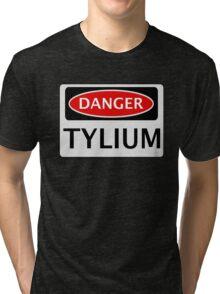 DANGER TYLIUM FAKE ELEMENT FUNNY SAFETY SIGN SIGNAGE Tri-blend T-Shirt