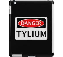 DANGER TYLIUM FAKE ELEMENT FUNNY SAFETY SIGN SIGNAGE iPad Case/Skin