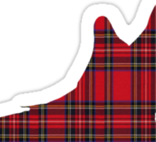 Tartan Dove T-Shirt Sticker