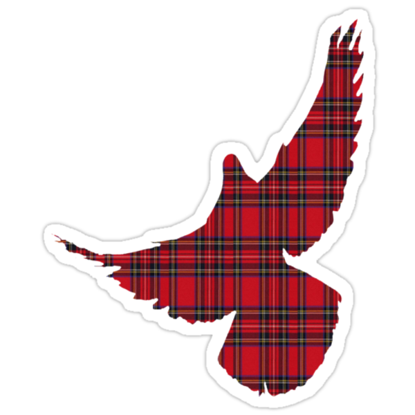 Tartan Dove T-Shirt by simpsonvisuals
