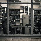 At the Library by Kofoed