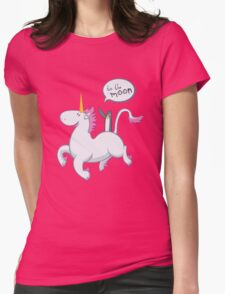 to the moon! Womens Fitted T-Shirt