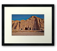 Palace Tomb in Nabataean ancient town Petra Framed Print