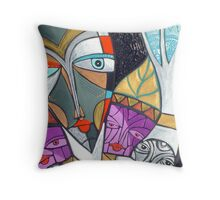 reaching for raven white seasons Throw Pillow