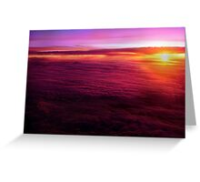 Sunset from 30,000 feet Greeting Card