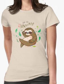 I am so slothvely Womens Fitted T-Shirt