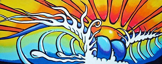 Wave Painting by colourfreestyle