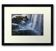 Bottom Of The Falls Framed Print