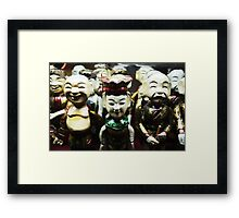 Water puppets  Framed Print