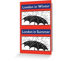 London in Summer Greeting Card